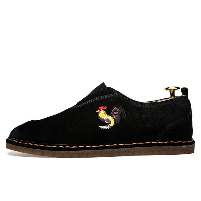 Chaussures Homme à la main Bateau en daim Chaussures de ville Chaussures plates en solde LWuFr2YJe