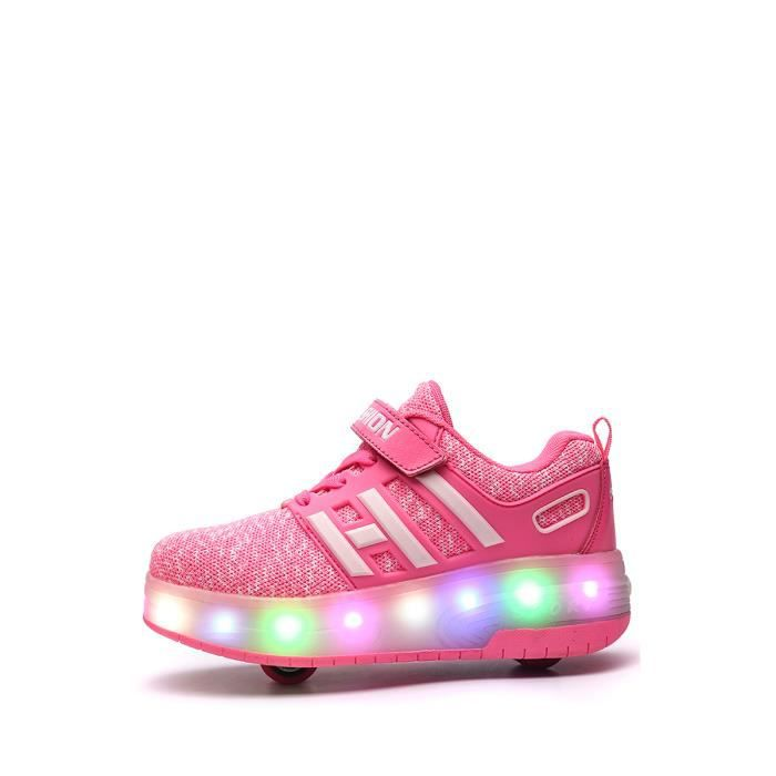 Roues Light Up Chaussures Double Wheel Sneakers Casual Boy - Girl 9328262