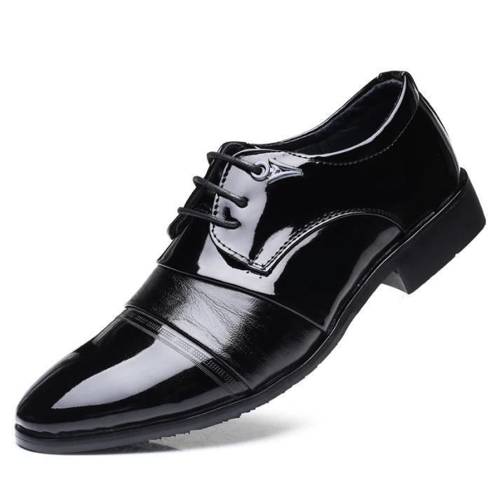b855f8ebdc9 Chaussures de Ville à Lacets en Cuir Oxfords Richelieu Style ...