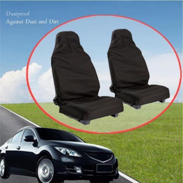 2Pcs Housse de siège de voiture Protecteur de coussin de siège de voiture de quatre saisons Accessoires d'intérieur de voiture