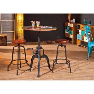 table ronde de salle a manger bar 75 cm bois de 29 Impressionnant Table A Manger Ronde En Bois Sjd8