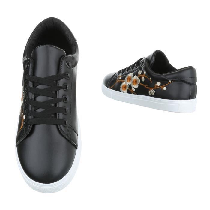 Sport Chaussures Loisirs Sneaker Femme 41 De Noir I29HWED