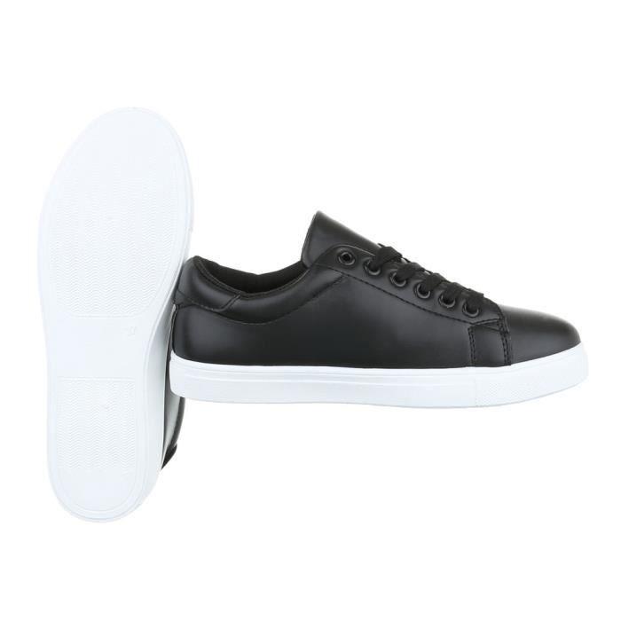 Femme chaussures loisirs chaussures Sneaker Chaussures de sport noir 41
