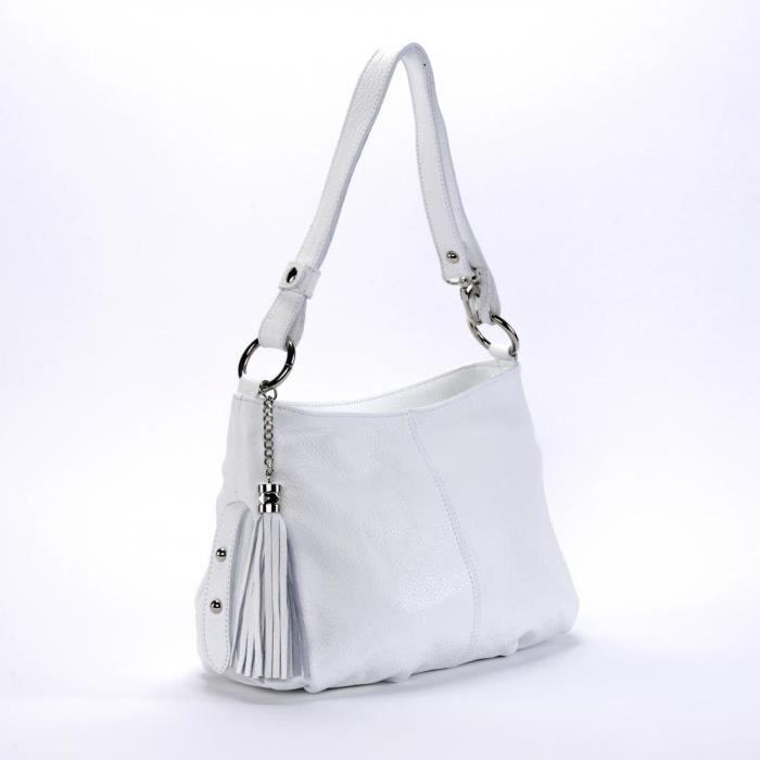 Italien Blanc Main Modèle À Femme Lobe Sac En Cuir 8qnXSww4x