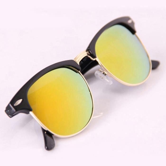 Lunettes de soleil Voyage porter des lunettes de suivi Vintage Classic Retro Hipster style Gold Frame et orange