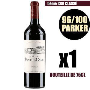 VIN ROUGE X1 Château Pontet-Canet 2015 75 cl AOC Pauillac Ro