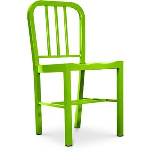 CHAISE Chaise Design Navy Style  - Acier Vert clair