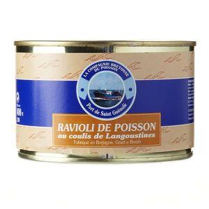PLAT A BASE DE POISSON Ravioli de poisson au coulis de langoustine, 400 g
