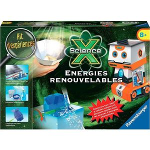 EXPÉRIENCE SCIENTIFIQUE SCIENCE X RAVENSBURGER Energies renouvables Jeu Ed