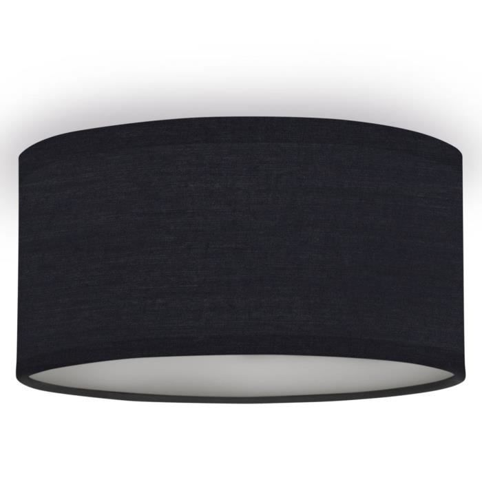 Matière : textile, plastique et métal - Type de culot : E14 - Puissance : 40 W - Dimensions : 20x20x10 cmPLAFONNIER
