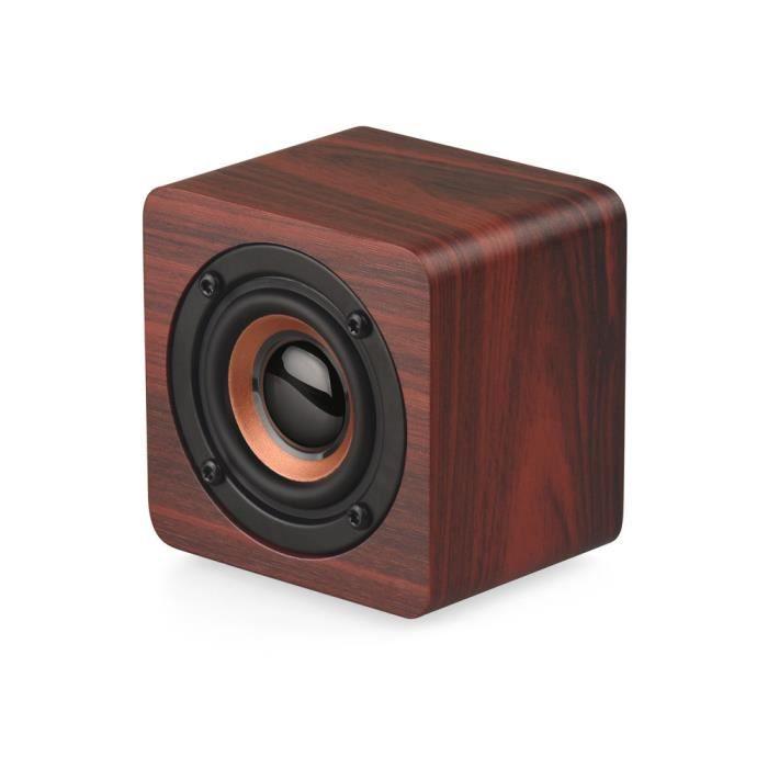 Bois Caisson De Basses Sans Fil Bluetooth Haut-parleur Stéréo Hifi Basse Orateur 590