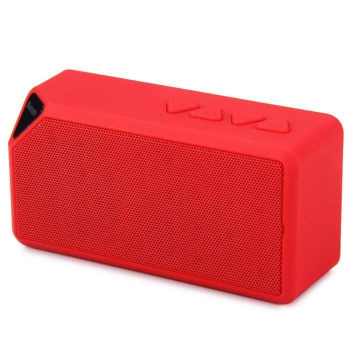Subwoofer Rouge Electronique Sporch X3 Mini Sans Fil Bluetooth Haut-parleur Portable Hifi Haut-parleurs W-mic Appel Mains