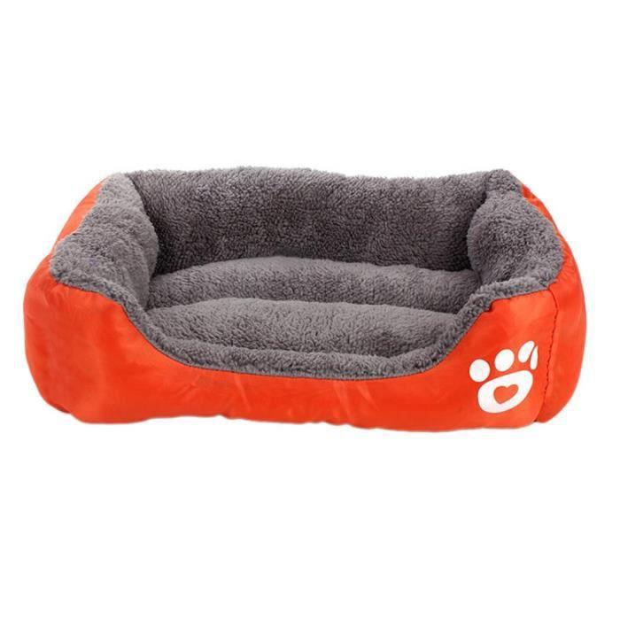 Couverture De Lit Nid Coussin Chiot Maaude Chenil Coton D'animal Familier Pour Chat Orange Xl