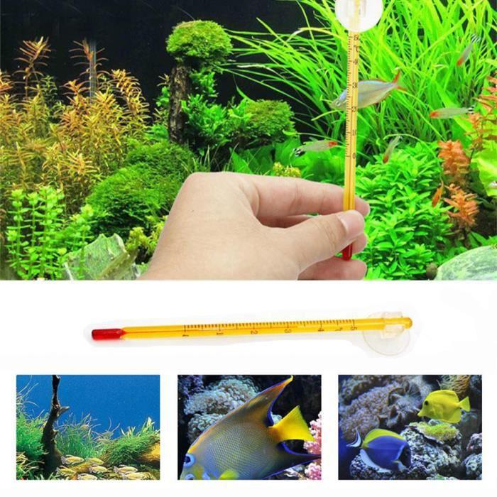 Nouveau Verre Mètre De Poissons D'aquarium Réservoir D'eau Température Thermomètre Ventouse_poi494