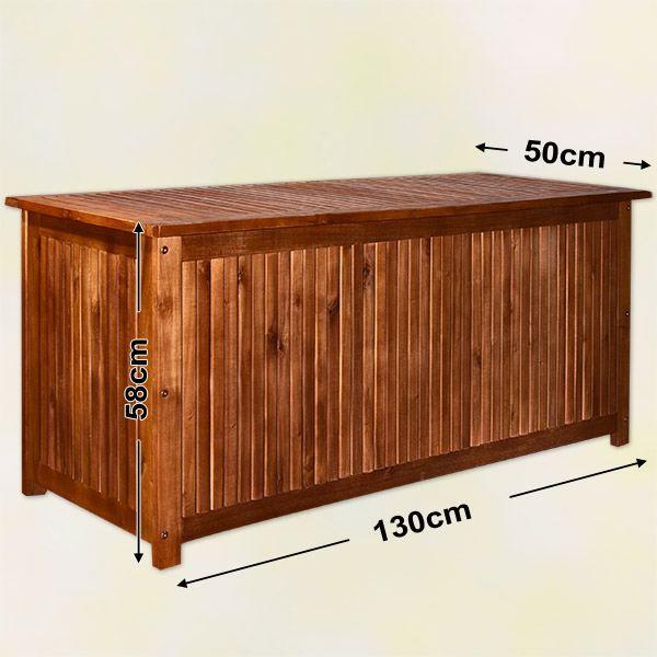 Coffre de jardin en bois exotique 130 cm - Achat / Vente coffre d ...