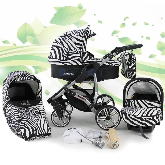 poussette bebe zebre