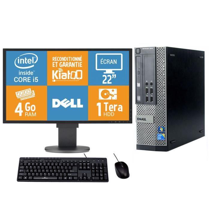 Pc Bureau Dell Optiplex 790 Intel Core I5 4 Go Ram 1 To Disque Dur Tft 22 Ordinateur De Bureau Reconditionne W7