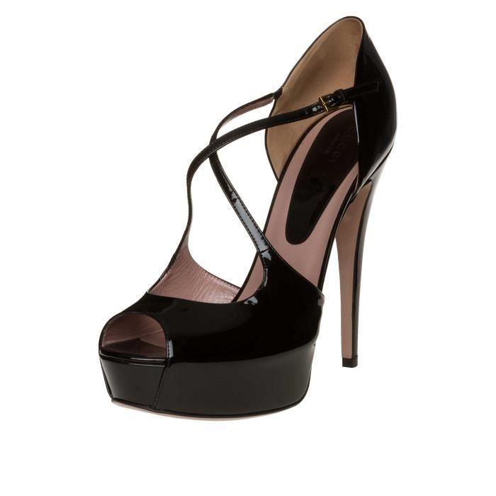GUCCI Chaussures à talons hauts Cuir verni Noir Noir - Achat   Vente ... 256c6db1870