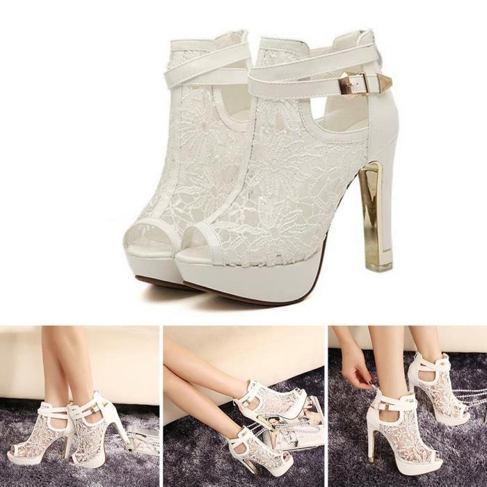 XZ983A2XZ983A2Nouveau dames Femmes Plateforme Stiletto Hauts talons Boucle Peep Toe Sandales Chaussures 7KPjKWgi