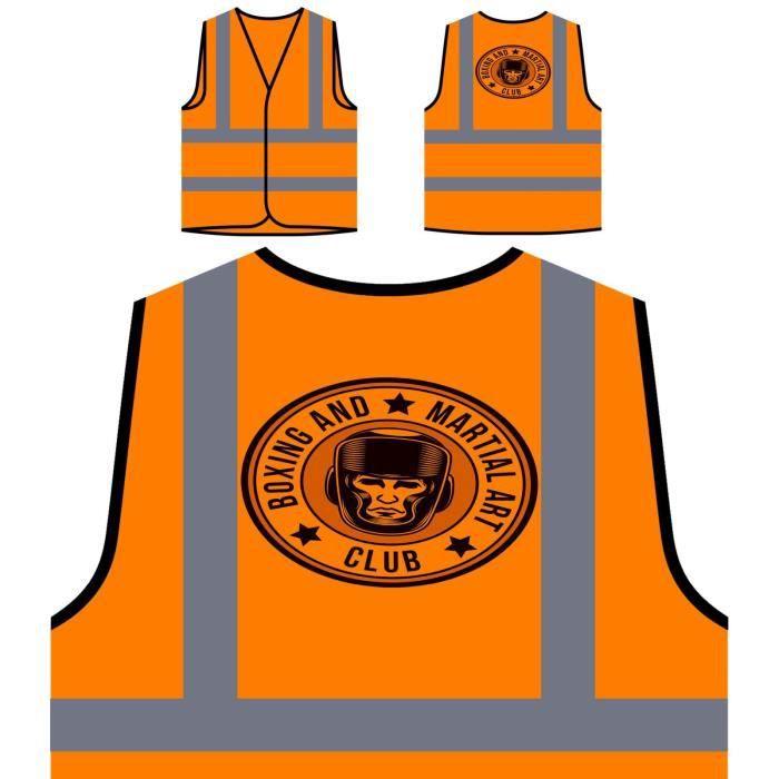 Visibilité Haute Orange De Personnalisée À Veste Club Man Protection Vs Box boxing qY16S