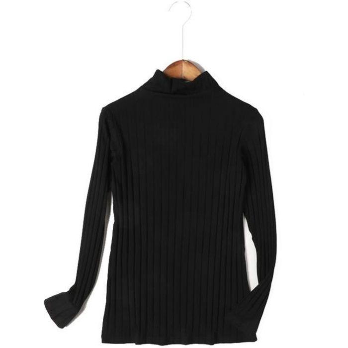 64b12f49f4 Femme T-Shirt à Manches Longues et col Montant sous vêtement en ...