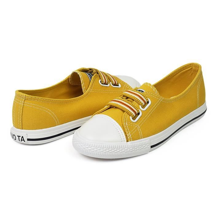 Canvas Slip-on Sneaker Walking Flat Shoes Q7E0D Taille-37