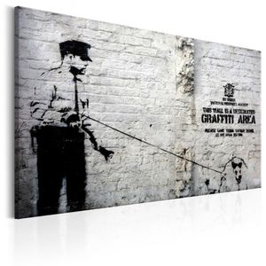 TABLEAU - TOILE Tableau  |  Graffiti Area (Police and a Dog) by Ba