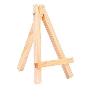 FIXATION - SUPPORT  Mini chevalets d'affichage 12pcs en bois 7 * 12cm