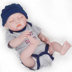 POUPON Poupées de bébé de silicone de 52CM Reborn pour la