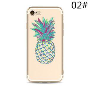 WISH,HXY3A_iPhone7plus,2 Ananas mode peinture Téléphone simple cas Mignon  Téléphone personnalité Coque de protection Accessoires de