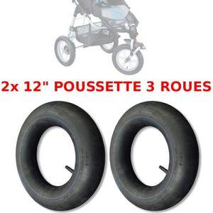 ROUE - PNEU 2x CHAMBRE A AIR POUSSETTE 3 ROUES 12