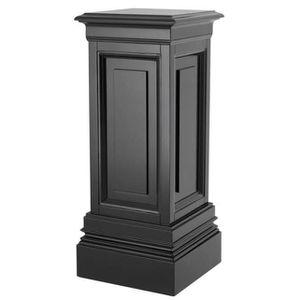 TABLE D'APPOINT Concepteur Casa Padrino pilier acajou noir 33 x 33