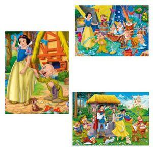 PUZZLE CLEMENTONI - Puzzle 3 x 48 pcs - Blanche Neige