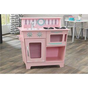 DINETTE - CUISINE Cuisine dinette vintage en bois rose princesse com