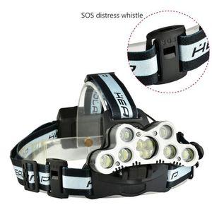 LAMPE FRONTALE MULTISPORT 90000LM Elfeland 9xT6 LED Lampe Frontale USB Recha
