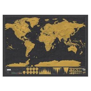 OBJET DÉCORATION MURALE Vococal® Scratch Map Carte du monde à gratter Edit