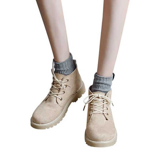Shoes Ladies Flock Fashion Casual Ankle Women's Flat Boots Short Lhb499 Oxford 7SdqwdZ5