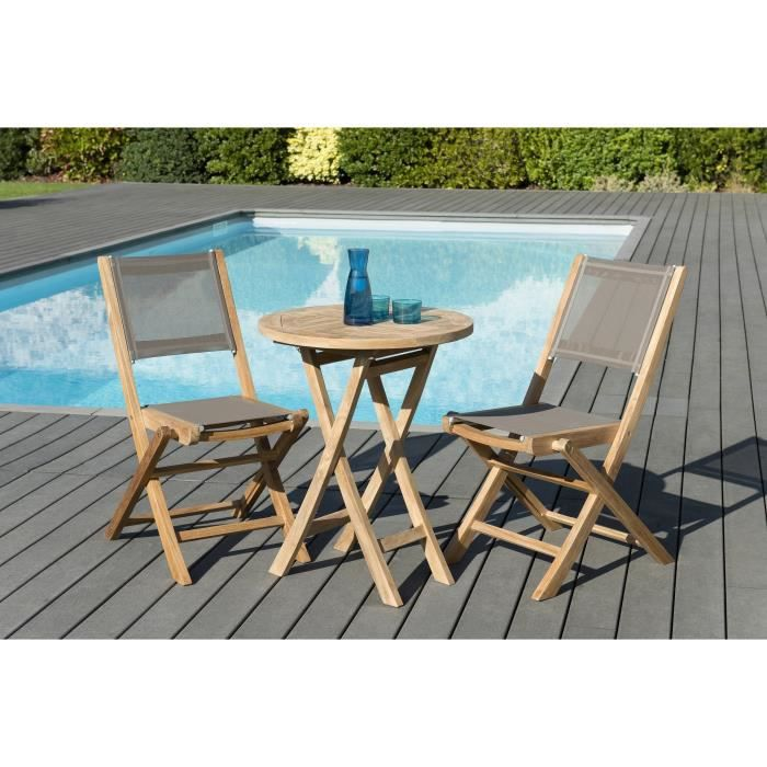 Chaise Couleur Taupe 547879 Blanc Table Plus 2x Pi Tement Chne ...