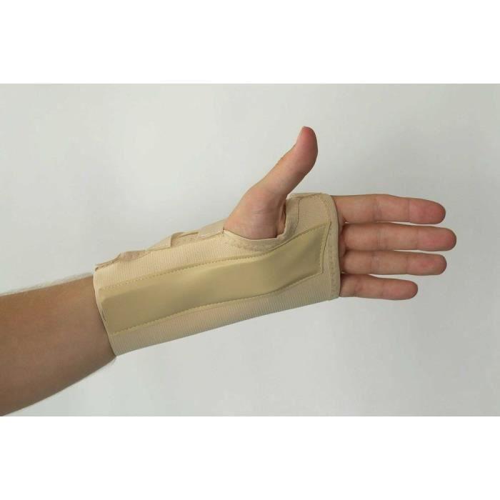 Maintien et protection du poignet VITAEASY pour main gauche - Coloris chair - Fermeture autoagrippante