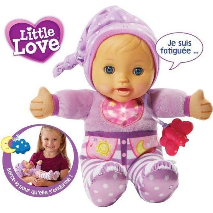 VTECH Poupée LITTLE LOVE - Mon Bébé à Bercer