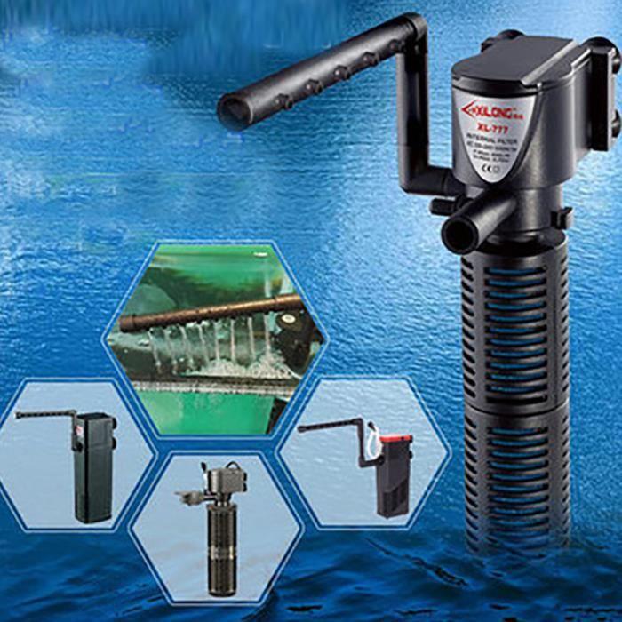 3in1 Aquarium Filtre Interne Oxygène Pompe Submersible Eau Pour Les Poissons Étang Réservoir Mn243