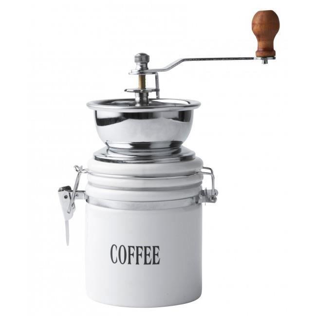 moulin caf manuel en inox et porcelaine blanche achat vente moulin caf cdiscount. Black Bedroom Furniture Sets. Home Design Ideas