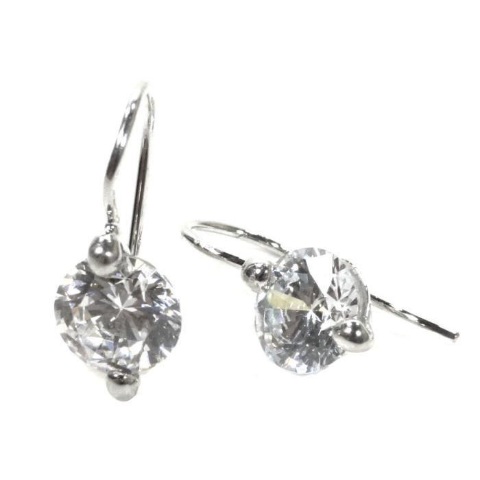 Basic Silber - Basique Argent 02.EX650W Femmes boucle doreilles Argent ZirconiaRéf 43374