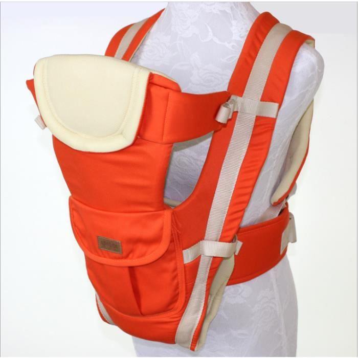 ... Sling infantile confortable Backpack Pouch Wrap bébé kangourou-ORANGE.  ÉCHARPE DE PORTAGE 2 - 36 mois respirant multifonctionnel avant face e26ee7d4ddf