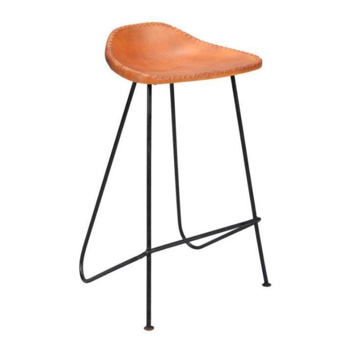 chaise tabouret de bar design vintage vpe4 cuir vintage - Chaise Cuir Vintage