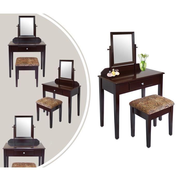 coiffeuse miroir pas cher coiffeuse avec miroir et. Black Bedroom Furniture Sets. Home Design Ideas
