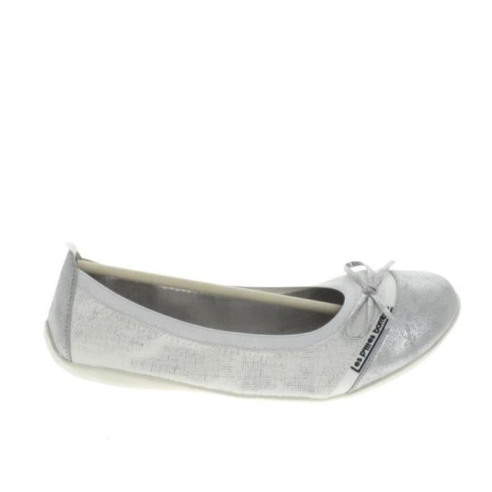 Chaussure de ville LPB Ballerine Noeud Caprice Blanc Argent Blanc ... ddc89e52de0b