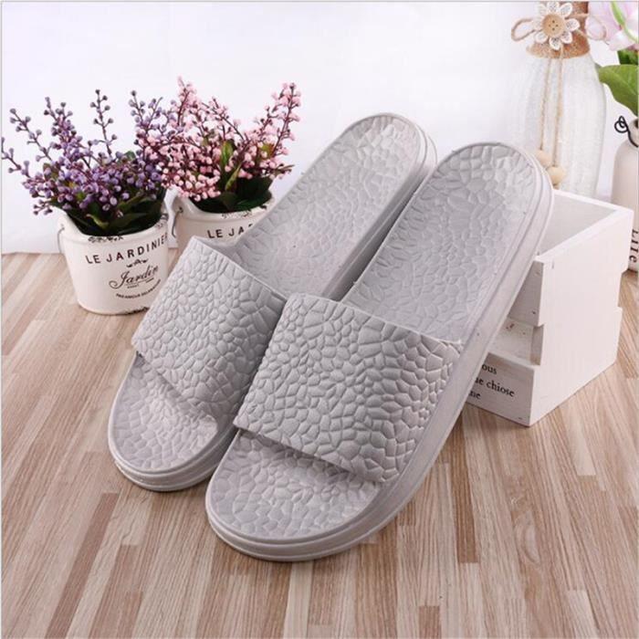 pantoufle hommes été 2017 nouvelle marque de luxe chaussure plein air Confortable Plus de couleur noir gris bleu di9NBMgkAR