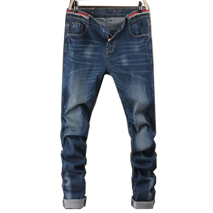 4be2bc39e46 Jeans homme coupe droite taille basse - Achat   Vente pas cher