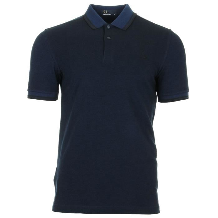 b0bce4c9f0e Polo Fred Perry Twin Tipped Fred Perry Shirt Medieval Oxford Bleu ...